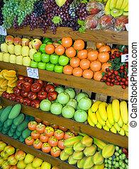 thai , πάγκοs με φρούτα