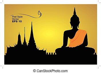 thai , περίγραμμα , αρχιτεκτονική