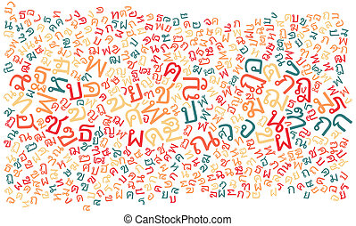 thai alphabet texture background - high resolution