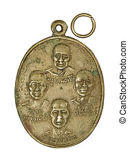 thai amulet with Monk names / kruba - image of thai amulet...