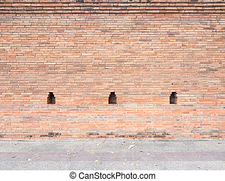 thai ancient brick wall