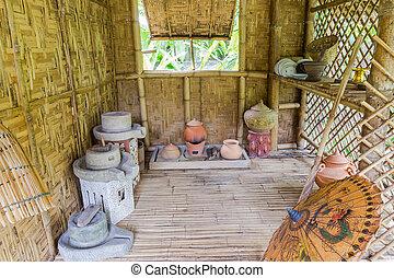 Thai antique kitchen in cottage