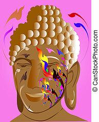 thai art buddha