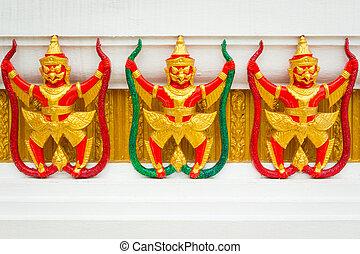 Thai art exterior of temple.