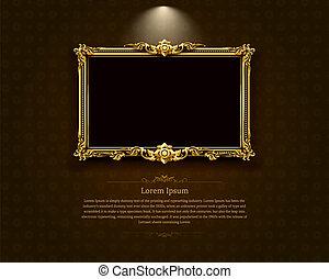 Thai art frame border pattern