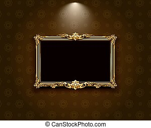 Thai art frame border pattern vector illustration