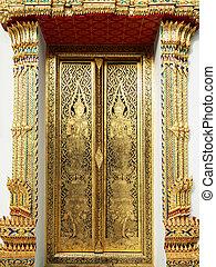 Thai art gold painting