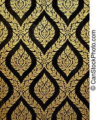 thai art gold paiting