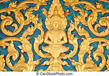 Thai art style on wall,