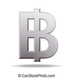 Thai baht currency symbol, money sign vector illustration on...