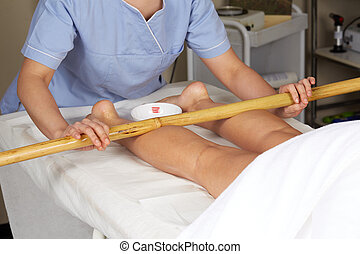 thai, bambus, masaż, wtykać