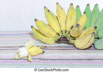 Thai Bananas Still Life, bite Banana