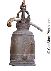 Thai bell on white background