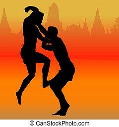 thai, boxning