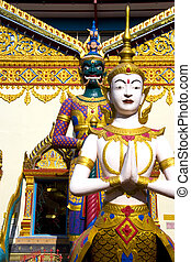 Thai Buddhist Temple - Image of a Thai Buddhist temple,...