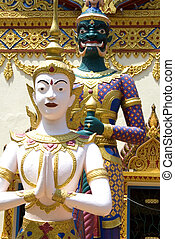 Thai Buddhist Temple - Image of a Thai Buddhist temple.