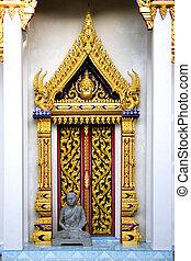 Thai Buddhist Temple Window - Ornate Thai Buddhist temple...