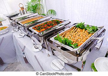 Thai buffet breakfast at a beautifully organized wedding