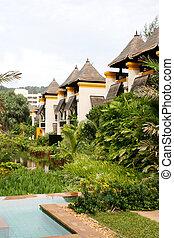 Thai bungalows.