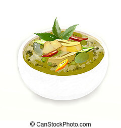Thai Chicken Green Curry - Thai green curry is one of the ...