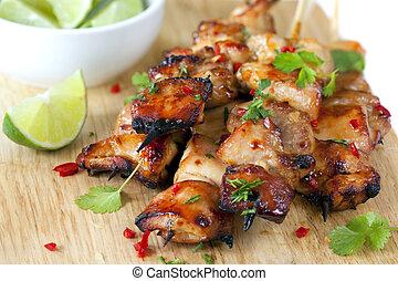 Thai Chicken Skewers - Thai chicken skewers marinated with ...