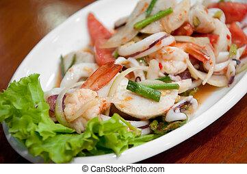 thai chilli sea food salad