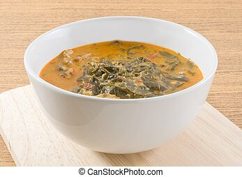 Thai Coconut Milk Curry with Cassia Leaves
