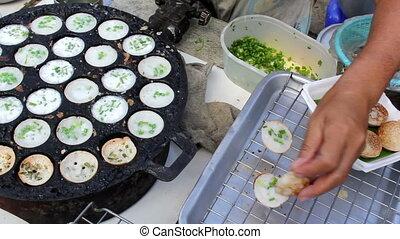 Thai coconut pancake for Thai style, Thai dessert