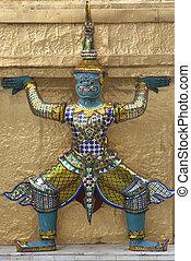 Thai colorful statue
