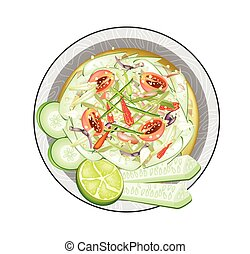 Thai Cucumber Salad with Fermented Salted Crabs - Cuisine...