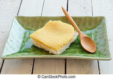 Thai custard with sticky rice