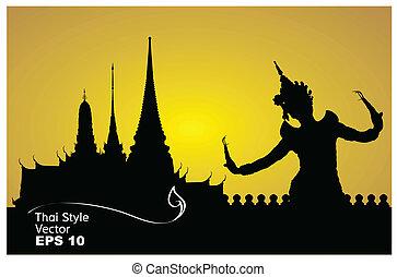 thai dance woman