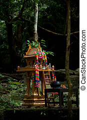 thai deity house in forest