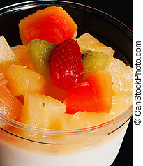 agar tofu fruit salad