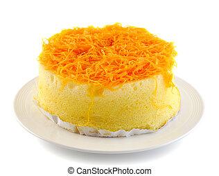 thai dessert,foy thong cake