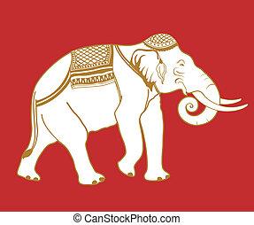 Thai Elephant - Illustration of Thai elephant.