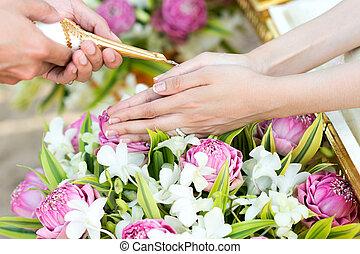 thai ember, esküvő