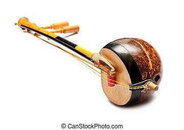 thai, fiol, bas, sounded, sträng, musik redskap