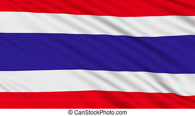 Thai flag, with real structure of a fabric