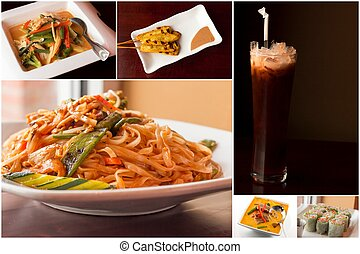 Thai Food Collage