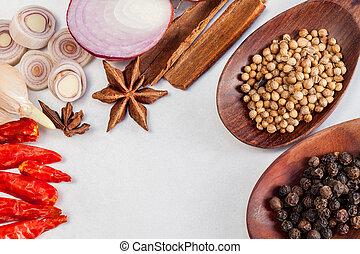 Thai food Cooking ingredients. - spice tast
