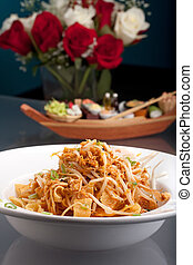 Thai Food Crispy Noodle Salad - A Thai dish of crisy noodles...