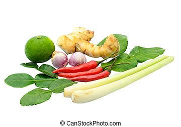 ingredient for Tom yum kung