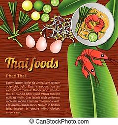 Thai Food Menu Phad Thai