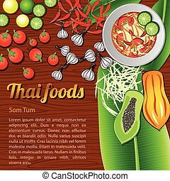 Thai Food Menu Som Tum