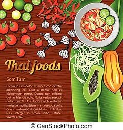 Thai Food Menu Som Tum