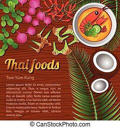 Thai Food Menu Tom Yam Kung