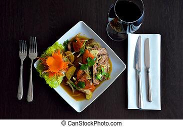 Thai food on a table