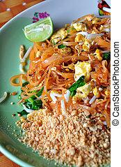 Thai food Pad thai, Stir-fried rice noodles