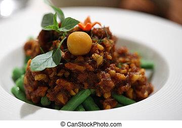 Thai food pork curry